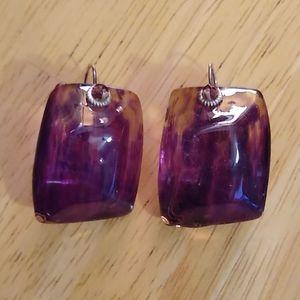 LALO ORNA Purple Resin Earrings